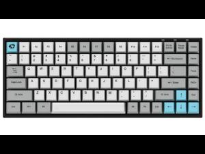 Akko 3084 Silent 84 Keys Bluetooth/Wired Gaming Mechanical Keyboard Cherry MX Blue Switch Double Shot Dye Sub PBT Keycaps White/Grey/Blue