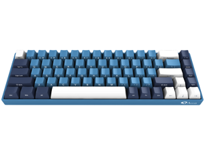 Akko 3068SP Ocean Star 68 Keys Gaming Mechanical Keyboard Cherry MX Blue Switch Double Shot Dye Sub PBT Keycaps NKRO Detachable USB Type-C Wired Side Printed/Carved Letter Blue/White
