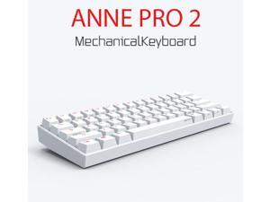 Anne Pro 2 60% Mechanical Gaming Keyboard Wired/Wireless Dual Mode Full RGB Double Shot PBT - Cherry MX Silver
