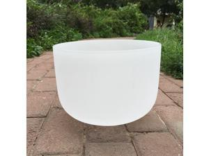 TOPFUND Singing Bowls C  Note Crystal Singing Bowl Root Chakra 10 inch (O ring and Suede Sticker or Rubber Mallet Included)