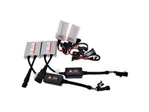 55W AC W/O CANBUS H4 9003 Hi/Lo Beams 6000K HID Xenon Light Kit w/ Slim Ballasts