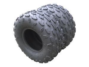 Pair of ATV Go Kart Tires 145/70-6 Rated Black rubber Depth: 5 mm