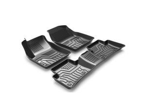 Custom Fit  3D TPE All Weather Car Floor Mats Liners for Toyota CHR 2017-2020 (1st & 2nd Rows, Black)