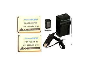 FinePix SL305 FinePix SL1000 FinePix SL280 NP-85 FinePix SL245 FinePix SL260 BC-85 FinePix SL300 Fujifilm NP-85 Digital Camera Batteries and Charger Replacement 1500mAh, 3.7V, Lithium-Ion FinePix SL240 - Compatible with Fujifilm FinePix SL1000