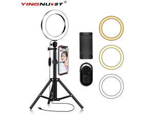 Light with Tripod Stand Phone Selfie Kit 8 inch LED Circle Lights for Makeup Blog YouTube Video Photo Camera Studio Lighting Work with iPhone iPad Tablet Android Phones