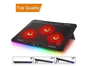 Laptop Cooling Pad,  Rgb Laptop Cooling Stand with Touch Control Light Modes & 3 Angles Adjustable, Silent Laptop Cooler for 12-17 Inch Laptop