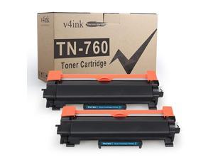 2PK Compatible Toner Cartridge for Brother TN760 TN760 TN730 Toner High Ink for Brother HLL2350DW HLL2390DW HLL2395DW HLL2370DW DCPL2550DW MFC L2710DW L2730DW MFCL2750DW Printer