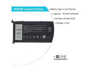 Laptop Battery for Dell Inspiron 15 5565 5567 5568 5578 7560 7570 7579 7569 P58F Inspiron 17 5765 5767 Inspiron 13 5368 5378 5379 7368 7378 Inspiron 147460 FC92N 3CRH3 T2JX4 CYMGM 42Wh114V