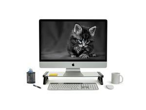 USB Monitor Stand and Laptop Stand Glass Desk Riser with 3 USB Hub Ports Capacity 20 lbs MI7240