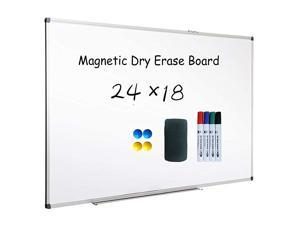 Small Magnetic Dry Erase BoardPortable Magnetic Hanging Whiteboard 24x 18 Inches Wall Mounted Board for Kids Home Office School 60x 45 cm