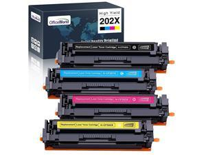 Compatible Toner Cartridge Replacement for HP 202X 202 High Yield Work with HP Color Laserjet Pro MFP M281fdw M281cdw M281fdn M254dw M254nw M254dn 4 Pack Black Cyan Magenta Yellow