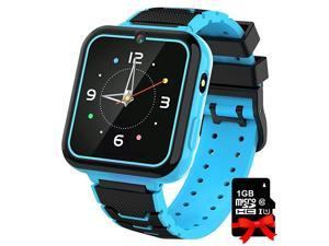 Watch for Kids Boys Girls, 1.57'' HD Touch Screen 7 Puzzle Game Music Player watch with Alarm Clock Recorder Torch for Children Birthday Learning Gifts Teen Students ( Black)