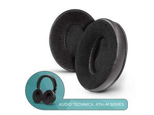 Hybrid - Custom Upgraded ATH M50X Replacement Ear Pads, Improved Comfort, No Change in Sound, Crafted Earpads Desgined for ATH M50X, M50BTX, M40X Headphones