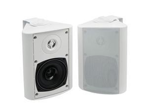 4 Inches Outdoor Bluetooth Speakers Waterproof Patio Deck Wall Mount Speakers White
