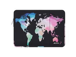 Laptop Sleeve Case Compatible with MacBook Air 13 inch 2018-2021 A2337 M1 A2179 A1932,MacBook Pro A2338 M1 A2289 A2251 A2159 A1989 A1706 A1708,Polyester Vertical World Map Bag Cover with Pocket