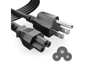 6 Foot Long 3 Prong AC-Laptop-Power-Cord Cable for Dell HP Asus Toshiba Lenovo Acer Samsung Laptop Notebook Computer Charger IEC-60320 IEC320 IEC C5 to NEMA 5-15P