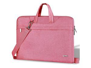 17 173 Inch Laptop Sleeve Shoulder Bag Slim Women Computer Carry Case Compatible with Razer Blade Pro 17 Lenovo LG Dell Asus Acer HP Notebook Messenger Briefcase with Strap Waterproof Pink
