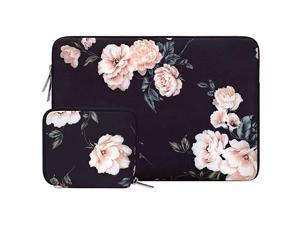 Laptop Sleeve Compatible with MacBook Pro 15 inch Touch Bar A1990 A1707, Dell XPS 15, ThinkPad X1 Yoga (1-4th Gen), Surface Laptop 3 15, Water Repellent Neoprene Camellia Bag with Small Case
