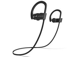 Bluetooth Headphones V50 IPX7 Waterproof Wireless Sport Earphones HiFi Bass Stereo Sweatproof Earbuds WMic Noise Cancelling Headset for Workout Running Gym 8 Hours Play time