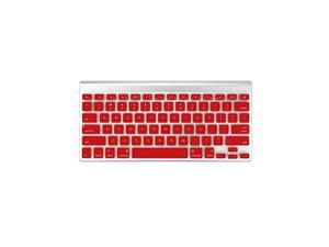 Silicone MacBook Keyboard Cover for MacBook Air 13 Inch (A1466 / A1369, Release 2010-2017) & MacBook Pro 13/15 Inch(with or w/Out Retina Display, 2015 or Older Version) Red