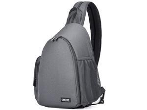 Camera Bag Sling Backpack, Camera Case Backpack with Tripod Holder for DSLR/SLR Mirrorless Cameras (Canon Nikon Sony Pentax) Grey