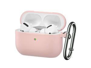 Airpods Pro Case Cover 2019 Released Soft Silicone Skin Cover ShockAbsorbing Protective Case with Keychain for Airpods Pro Front LED Visible