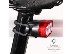 Autosensing Bike Taillight That Automatically Turns OnOff Low Battery Indicator 4 Flash Modes for Day or Night Individual or Group Riding USB Rechargeable Battery Lasting Up to 30 Hours