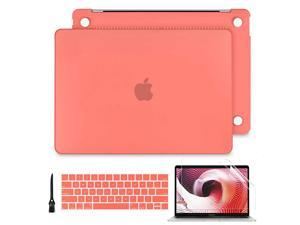 Case for MacBook Pro 16 inch 2019 Release Ultra Slim Smooth Matte Hard Case Protective Keyboard Cover for New MacBook Pro 16 with Touch Bar and Touch ID A2141 Model Living Coral