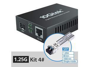 Media Converterkit 4 SFP Slot with a SFP Module SMF 1550nm 80km