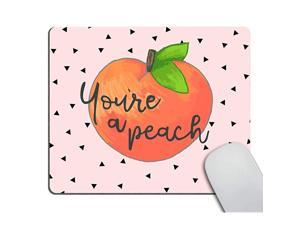 Gaming Mousepad CustomYoure a Peach Quote with Mouse pad Cute Hand Drawn Peach Mouse Pads for Computers Laptop