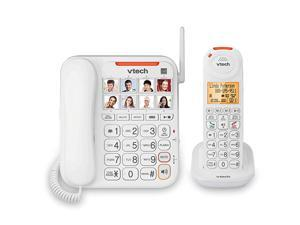 SN5147 Amplified CordedCordless Senior Phone System with 90dB ExtraLoud Visual Ringer Big Buttons amp Large Display