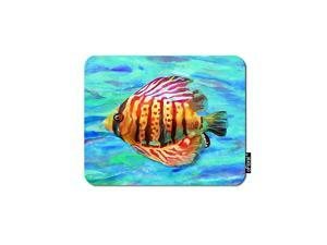 Sea Fish Gaming Mouse Pad Tropical Deep Ocean Animal Yellow Grouper Fish Decorative Mousepad Rubber Base Home Decor for Computers Laptop Office Home 79X95 Inch