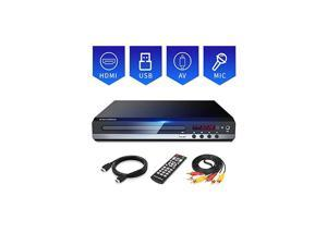 DVD Player, Home DVD Player for TV, Region Free DVD Player for Roku TV, HD 1080P DVD Player with HDMI, USB/MIC Port, MP2206