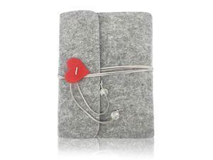 Photo Album Felt Cover Photo Scrapbook Memory Book Hand Made DIY Albums with 30 Sheets