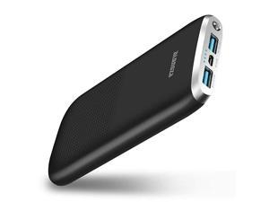 Portable Charger 10000mAh Compact External Battery Charger with Dual USB Mobile Backup Charger for Cell Phones Travel Battery Charger for iPhone Samsung Android and More