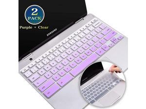 Samsung Chromebook Keyboard Cover 116 Silicone Keyboard Skin Samsung Chromebook 3 4 2 116 Inch Samsung Chromebook 4 156 Inch Samsung Chromebook Plus V2 122 InchPurple+Clear