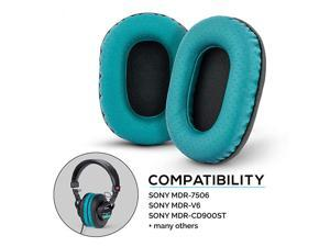 Earpads for Sony MDR 7506 V6 CD900ST with Memory Foam Ear Pad amp Suitable for Other On Ear Headphones Perforated Turquoise