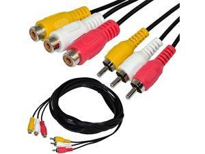 5ft 3 RCA Male to 3 RCA Female Audio Video Extension Cable 3RCA Male to Female Audio Composite Extension Video Cable DVD AV TV UK