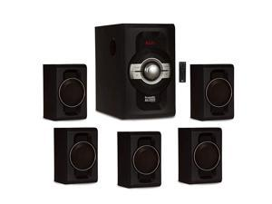 AA5240 Home Theater 5.1 Bluetooth Speaker System with USB and SD Inputs, Black
