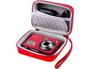 amp Protective Case for Digital Camera AbergBest 21 Mega Pixels 27quot LCD Rechargeable HDCanon PowerShot ELPH 180190 Sony DSCW800 DSCW830 Cameras for Travel Red