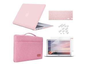 MacBook Air 13 Inch Case 20102017 Release Model A1369A1466 Bundle 5 in 1  Hard Plastic Case Sleeve Screen Protector Keyboard Cover Dust Plug Compatible Old MacBook Air 13 Rose Quartz