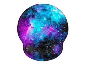 Mouse Pad with Wrist Rest Support  Gel Cute Mouse Pads Non Slip Rubber Base Mousepad Ergonomic Mouse Wrist Rest Pad for Laptop Computer Home Office Working Gaming Pain Relief Nebula Galaxy