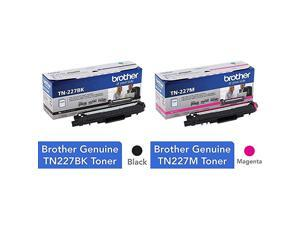 Genuine TN227 TN227BK High Yield Toner Cartridge Page Yield Up to 3000 Pages Genuine TN227M High Yield Toner Cartridge Replacement Magenta Toner Page Yield Up to 2300 Pages TN227