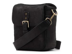 Torres Mini Genuine Leather Camera Messenger Bag for Mirrorless, Instant and DSLR Cameras