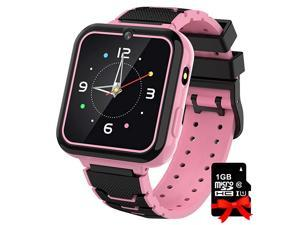 Watch for Kids Boys Girls, 1.57'' HD Touch Screen 7 Puzzle Game Music Player watch with Alarm Clock Recorder Torch for Children Birthday Learning Gifts Teen Students ( Pink)