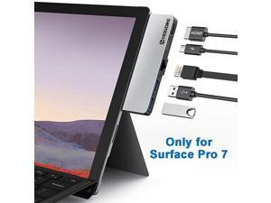 Surface Pro 7 USB C Hub  Surface Pro 7 Adapter Dock with 4K HDMI Ethernet RJ45 USB C PD Charging 2USB30 for Microsoft Surface Pro 7 Accessories MS Surface Pro Docking Station