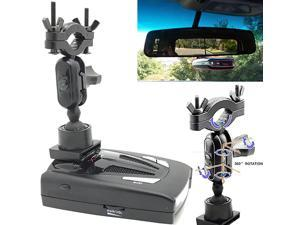 Universal Car Rear View Mirror Radar Detector Adhesive tab Mount for Radenso SP Pro Valentine One Whistler CR 65 70 75 80 85 90 XTR 130 RX Meter Cobra XRS ESR SPX ESD Radar Detector