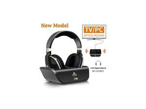 Wireless Headphones for TV with Optical  Digital Stereo Over Ear Headsets with Charging Dock 24GHz RF Transmitter 20H Playtime for TV PC Mobile