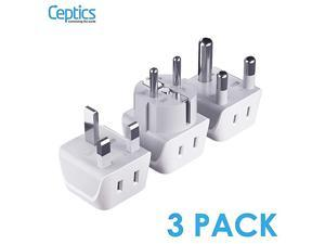 African Travel Adapter Set 2 in 1 USA to Africa S Africa Nigeria Ghana Uganda Type M EF Type G 3 Pack Does Not Convert Voltage