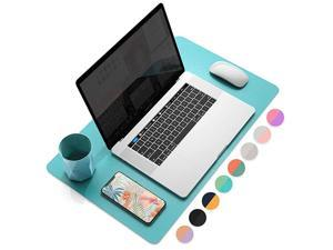 Multifunctional Office Desk Pad Ultra Thin Waterproof PU Leather Mouse Pad Dual Use Desk Writing Mat for OfficeHome 315 x 157 Calamine Blue+Cobalt Green